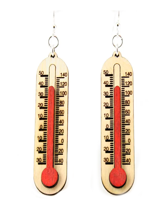 Thermometer Earrings