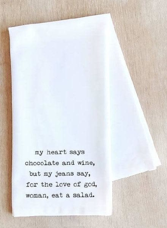 Chocolate and Wine Tea Towel