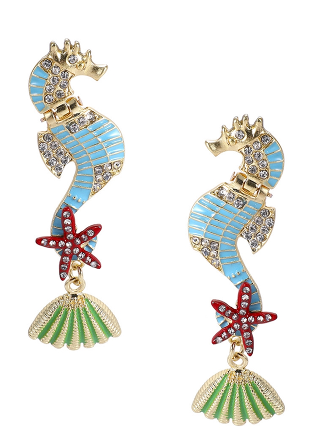 Seahorse N' Shell Earrings