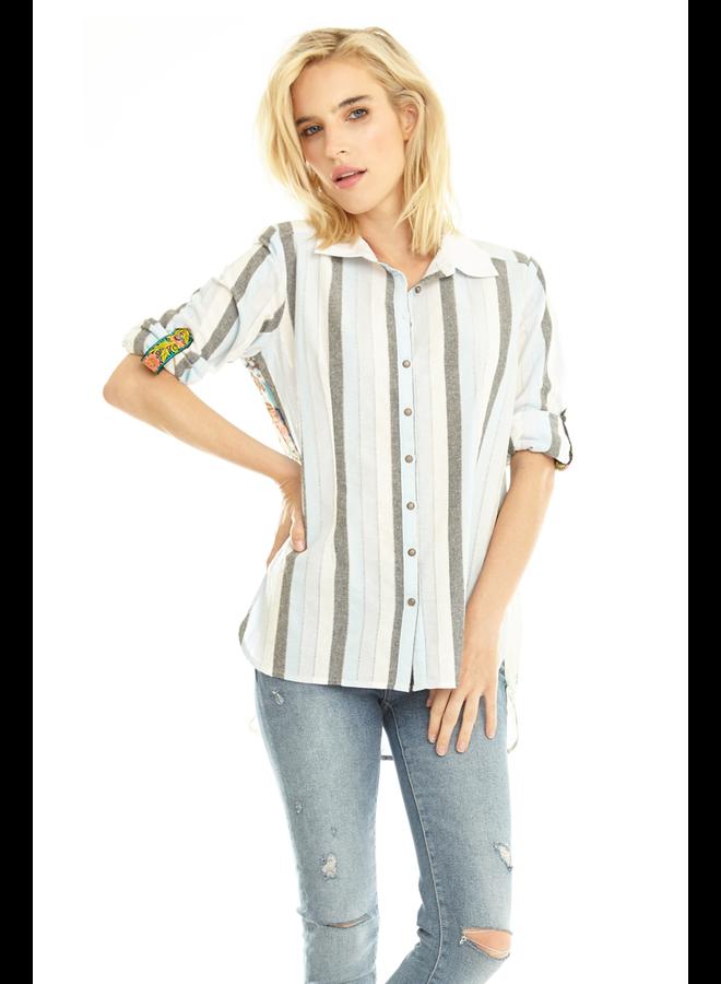 Aratta Pacific Crest Shirt In Blue Stripe