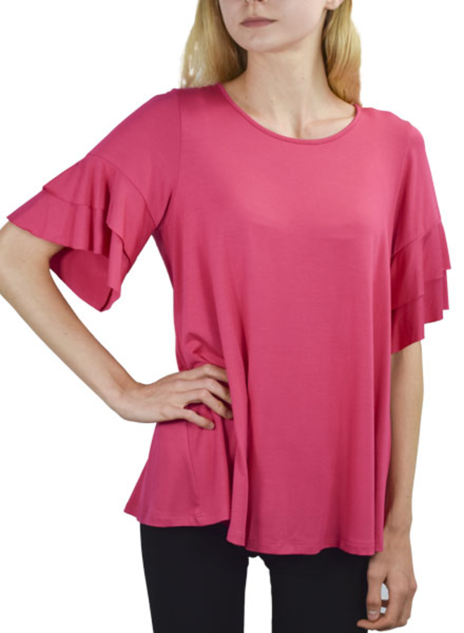 Comfy Whitney Tunic In Miami Pink