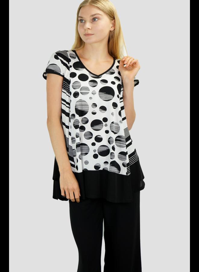 Dot Tunic In Black & White