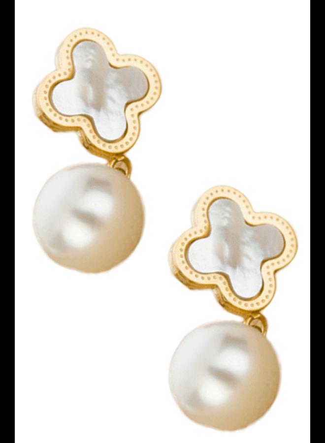 Clovers & Pearls Earrings