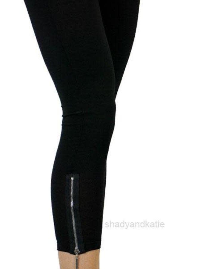 Comfy's Sun Kim Zipper Leggings In Black
