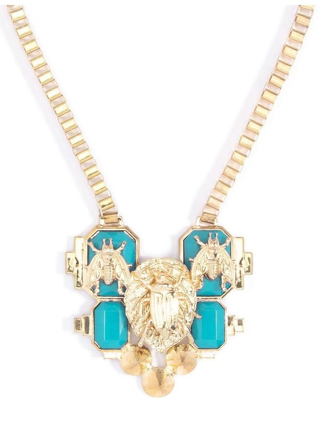 The Honey Bee Statement In Turquoise
