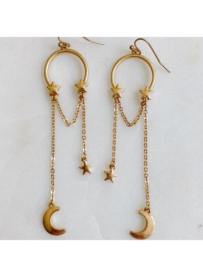Hung The Moon & Stars Earrings