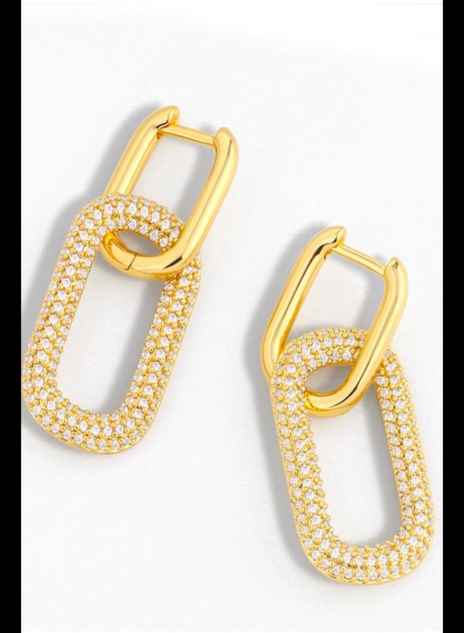 Link Zircon Earrings