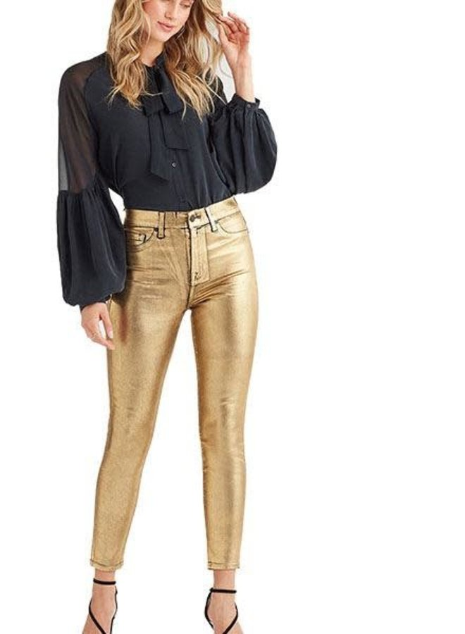 7's For All Mankind Skinny Ankles in Liquid Gold