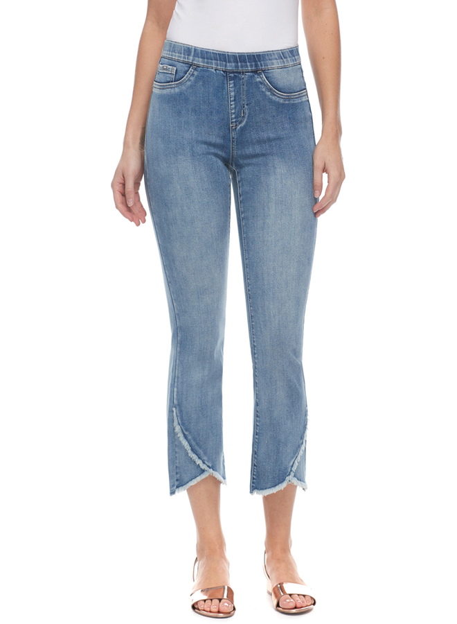 French Dressing Tulip Flare Crop Jean - ON REORDER