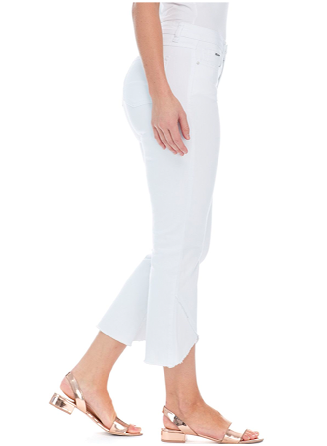 French Dressing Tulip Flare Crop Jean