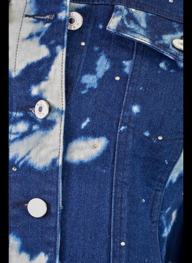 Starry Night Tie Dye Denim Jacket