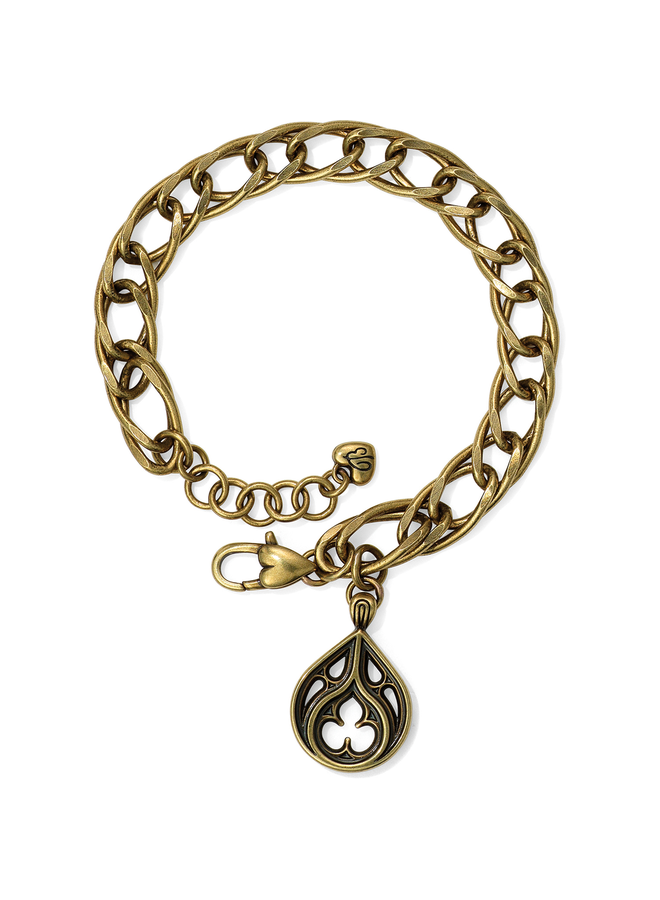 Brighton Lorenza Link Bracelet In Antique Brass