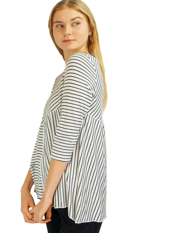 Comfy Stacey Top In Stipe