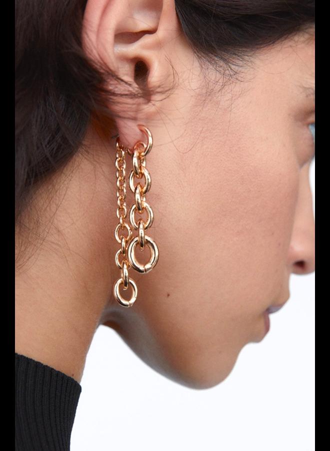 Front Back Chain Earrings