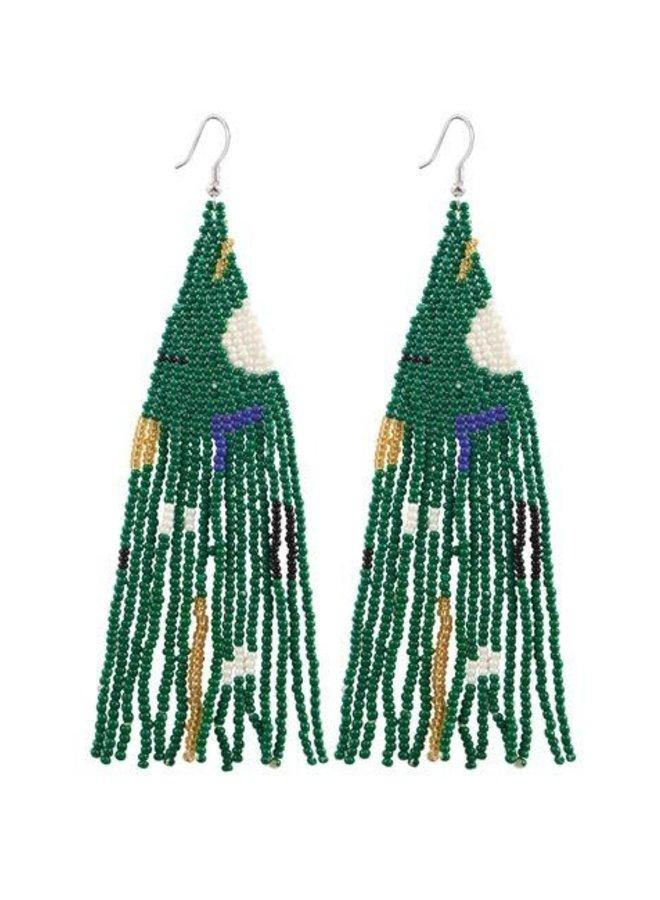 Geo Seed Bead Earrings