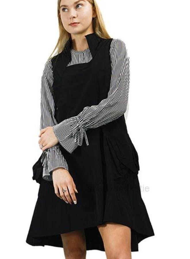 Comfy's Sun Kim Memory Dress In Black