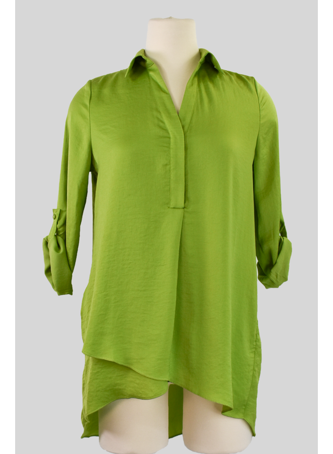 Renuar Soft And Beautiful Blouse In Basil