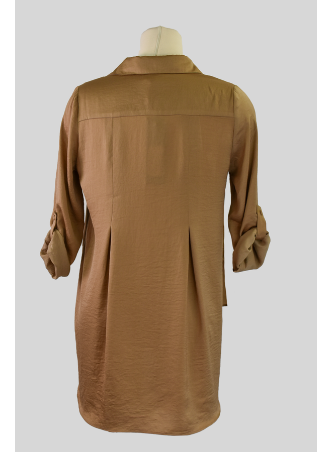 Soft And Beautiful Blouse In Toffee
