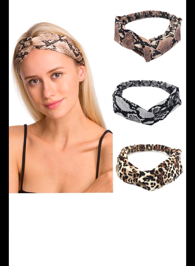 Soft Animal Print Headbands