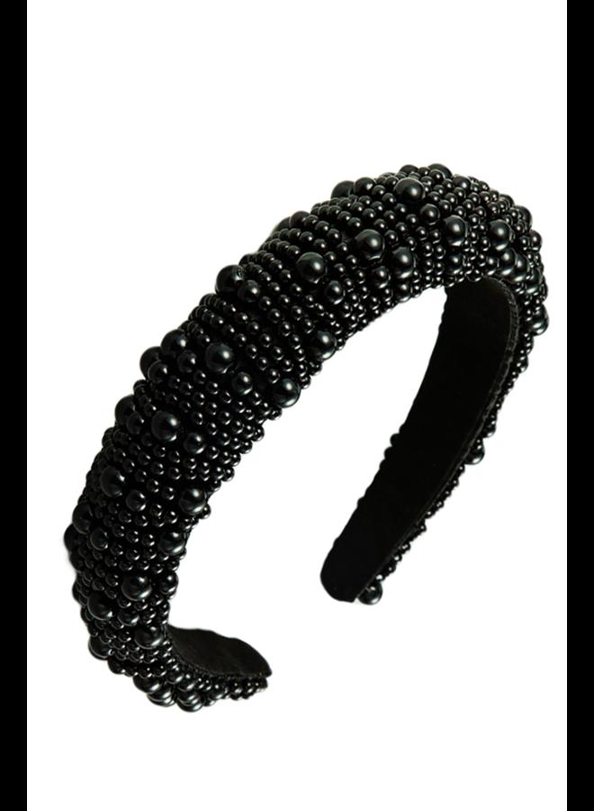 Black Beauty Bead Headband