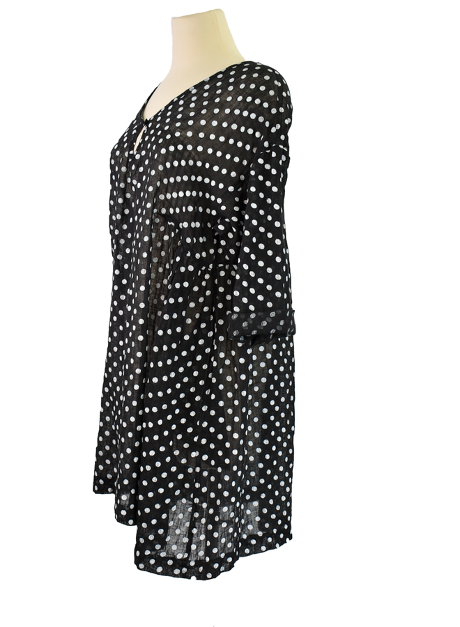 Namsar Polka Dot Gauze Dress