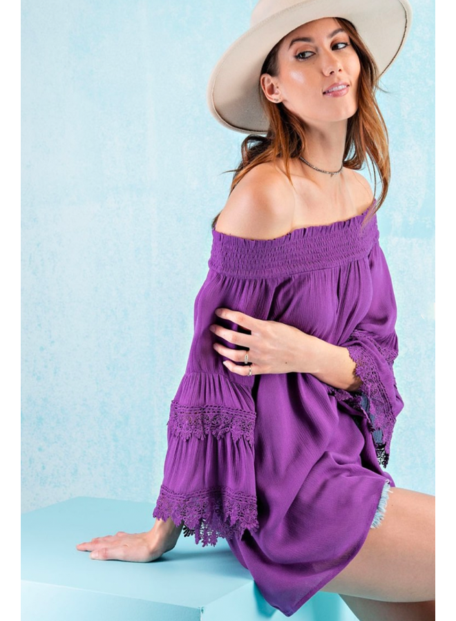 Purple Peasant Blouse