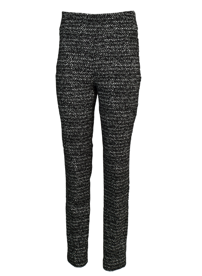 Renuar's Speckled Pant In Black & Ivory