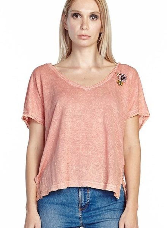 Aratta's Feelings Tee Shirt In Canyon Clay