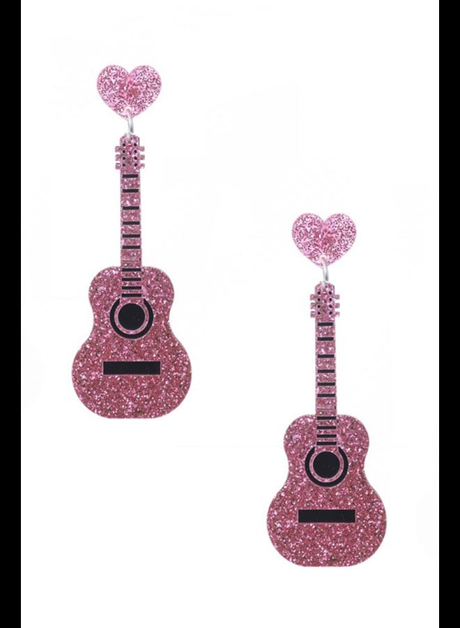 Guitar Heart Earrings