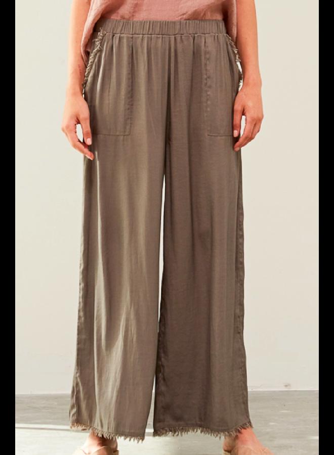 Raw Edge Pants