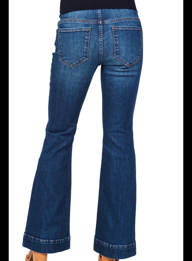 Stretch Denim Pull-On Jeans