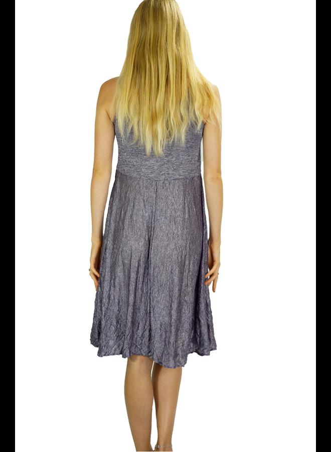 Comfy's Phoenix Dress In Crushed Plum Stripe