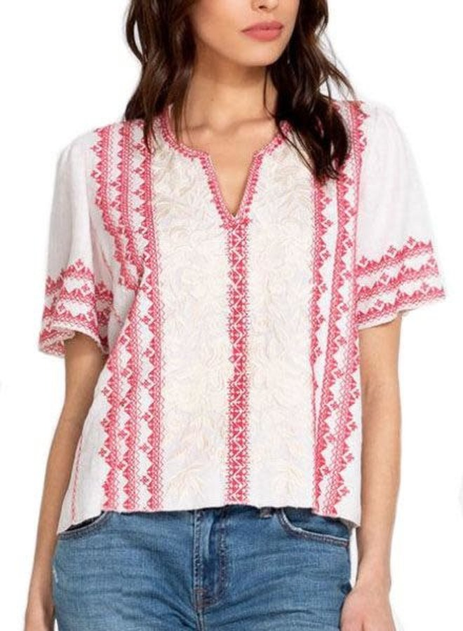 Johnny Was Camille Flutter Sleeve Blouse