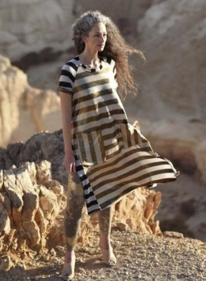 Alembika Tunic Dress In Stripes
