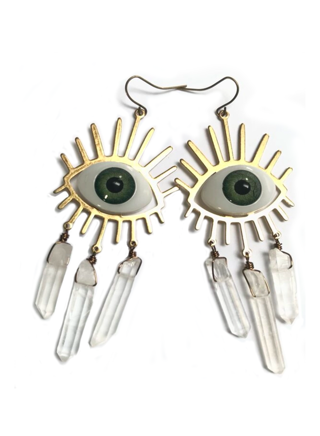 Crystal Eyes Earrings