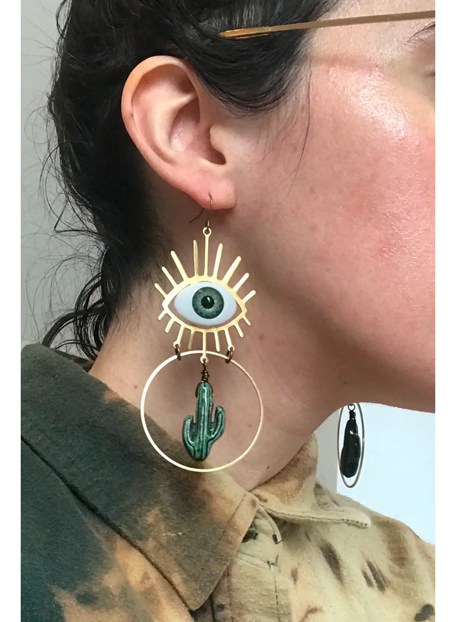 Cacteye Earrings