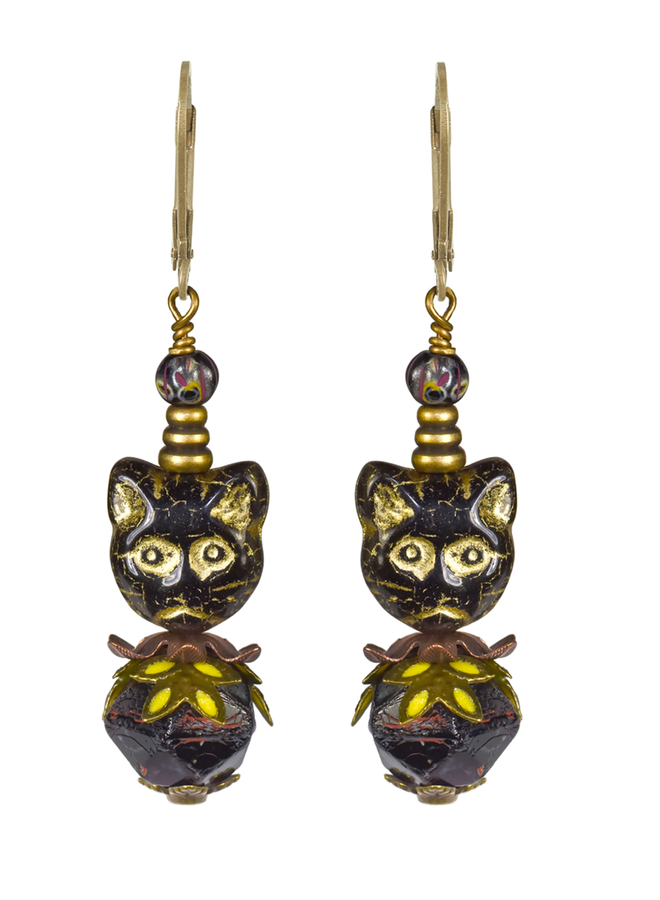 Fairyland Party Cat Earrings