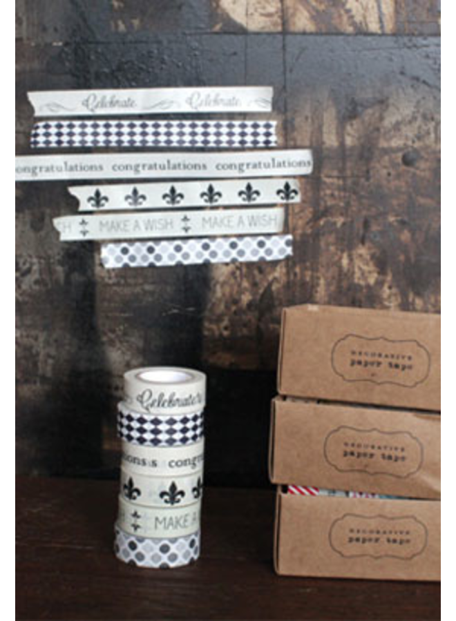 Decorative Paper Tape Set of 6