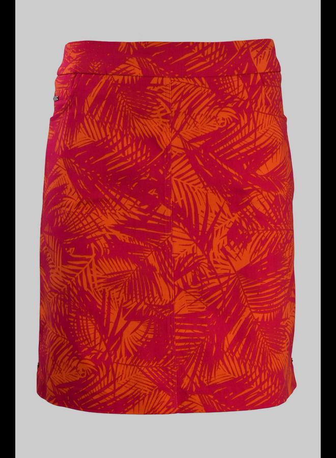Renuar Print Skort In Blossom Tropical