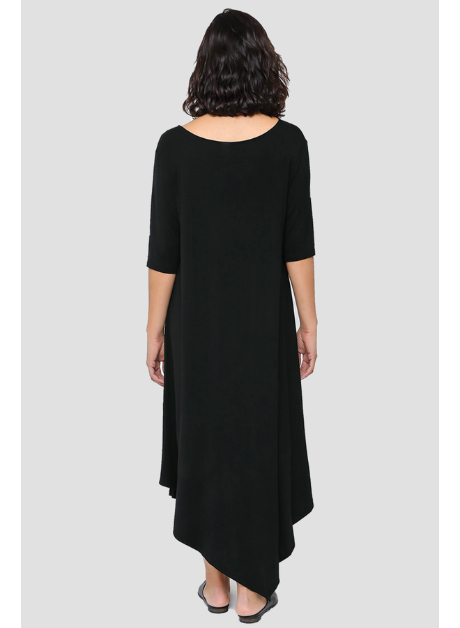MSquared Side Ruched Dress In Black