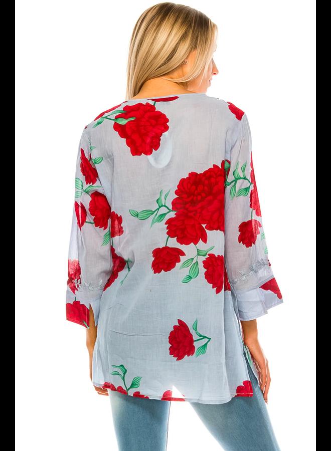Boho Floral Tunic