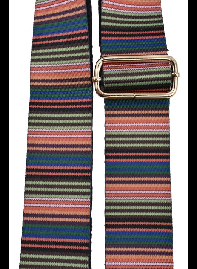 Purse Strap Multi Stripe