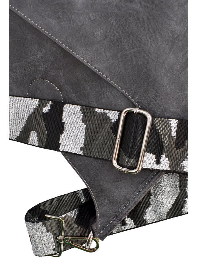Ahdorned Large Grey Bag With Grey Camo