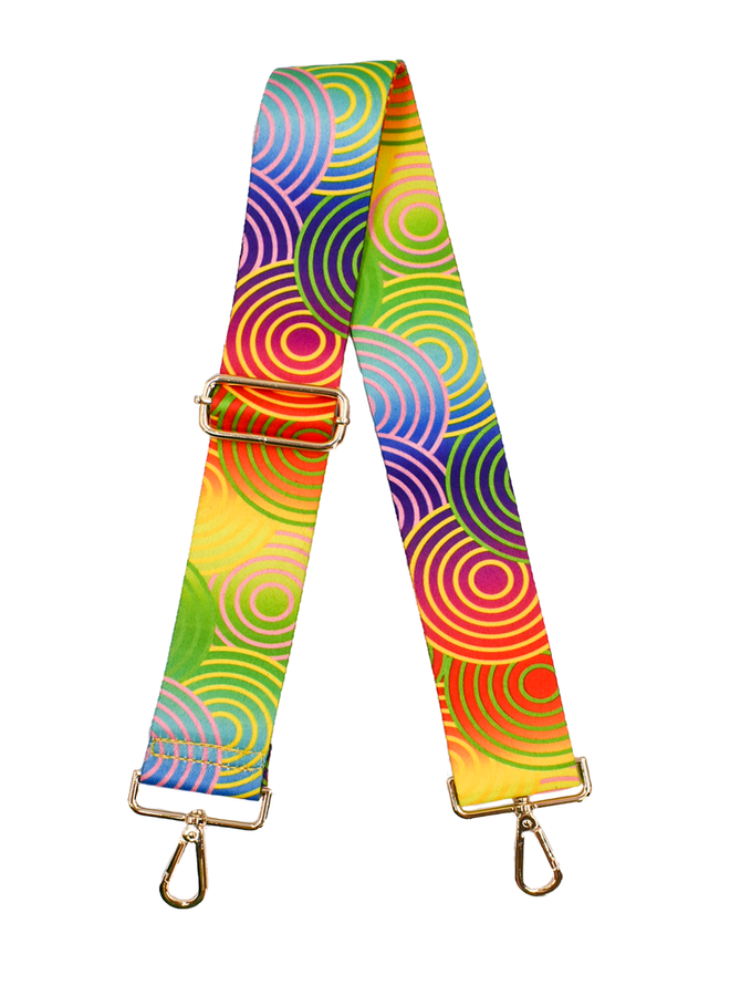 Ahdorned Purse Strap Rainbow Circle