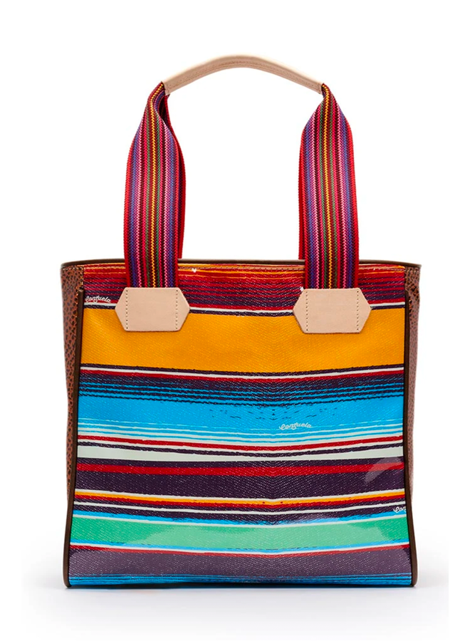 Consuela Classic Tote In Carlita Canvas Stripe