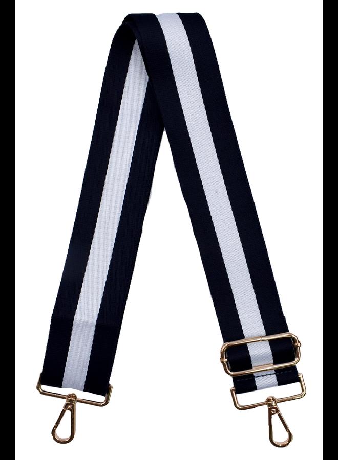 Ahdorned Purse Strap In Navy & White Stripe