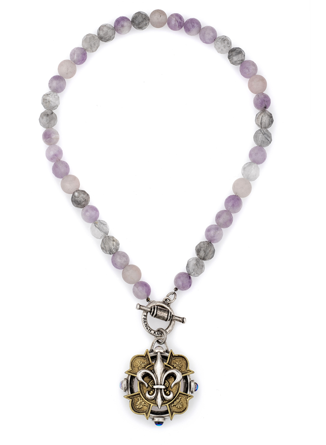 French Kande Lavender Mix Necklace