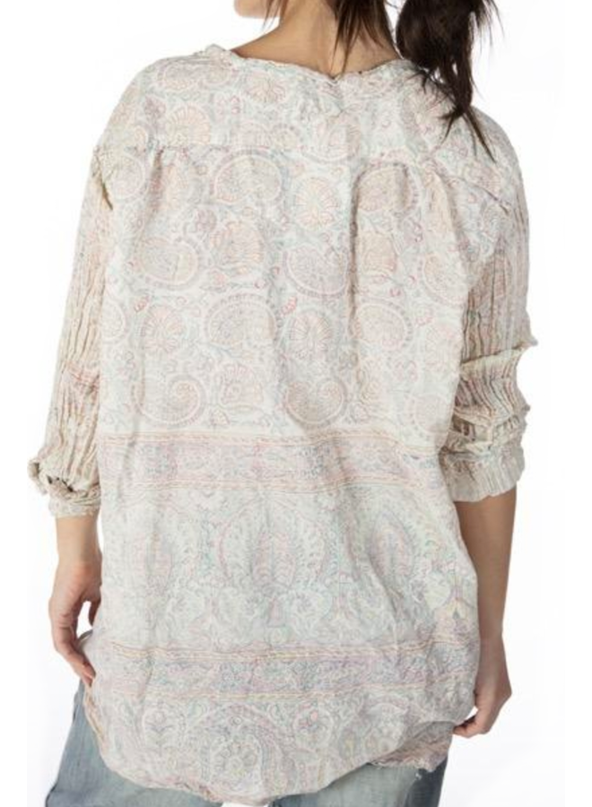 Magnolia Pearl Cotton Hand Blocked Rani Shirt
