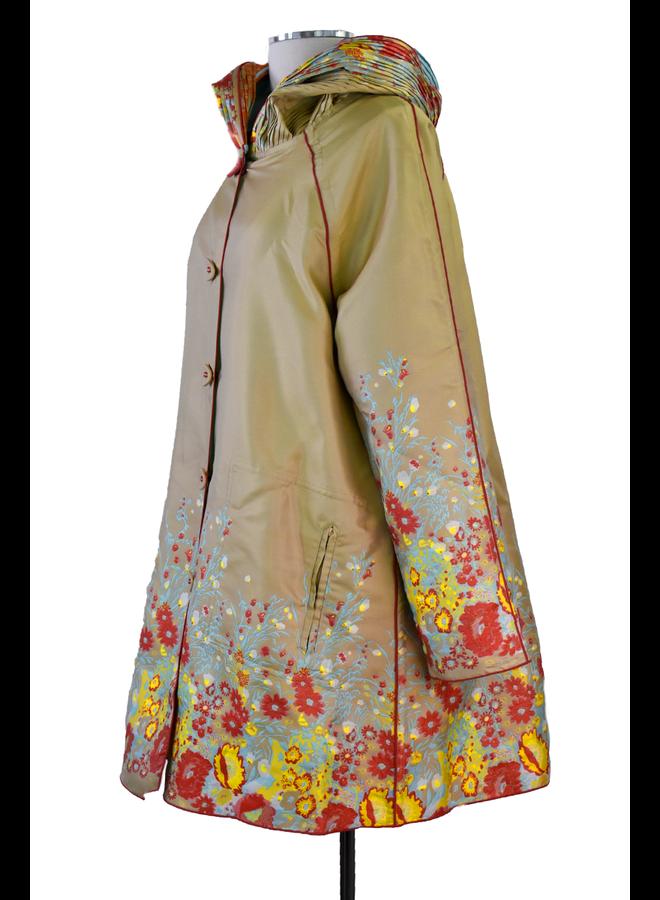 UBU Reversible Floral Parsian Coat