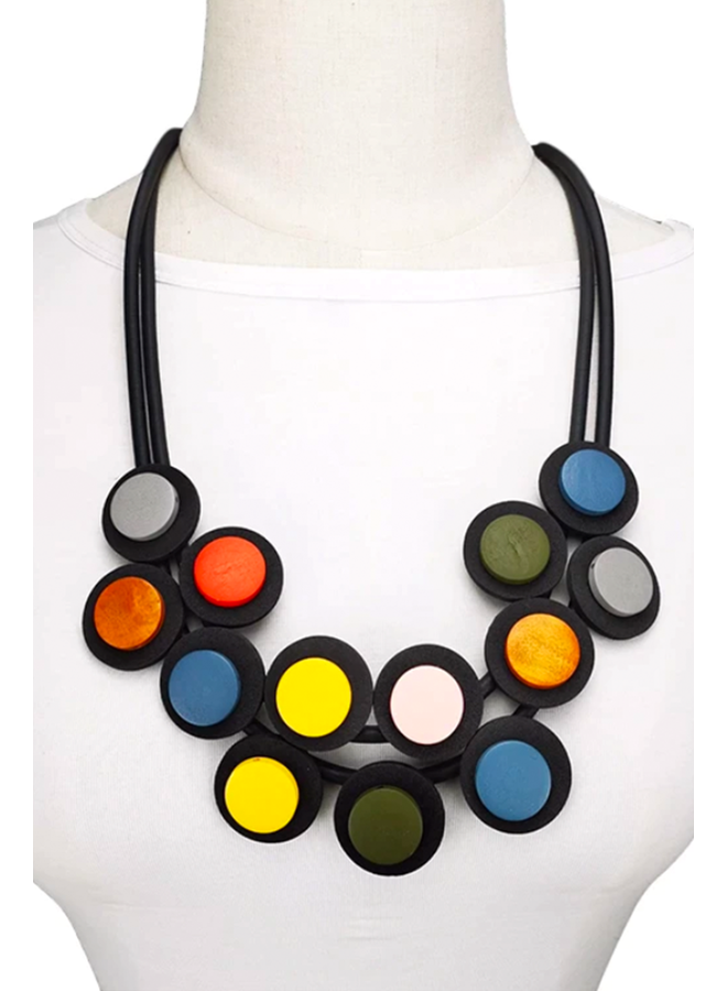 Double Row Rubber Necklace